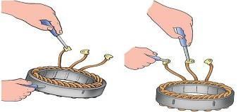 Схема прибора для проверки якорей и статоров