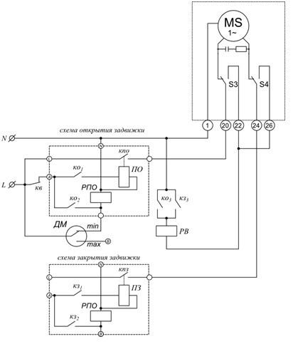 Схема подключение экм с пускателем