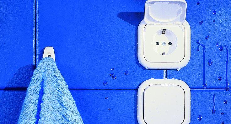 Розетка в ванной комнате: правила установки