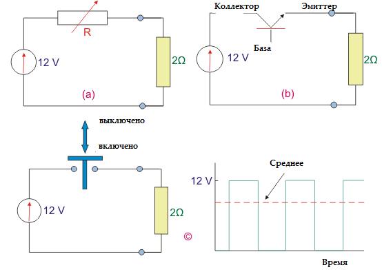 Транзистор как выключатель